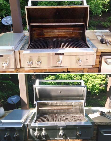 Before pics of dirty BBQ grill.