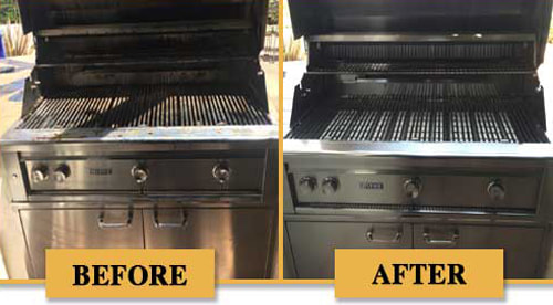 Before and after BBQ Grill Cleaning - 10