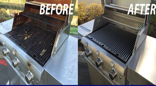 Before and after BBQ Grill Cleaning - 11