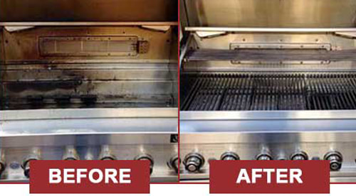 Before and after BBQ Grill Cleaning - 5