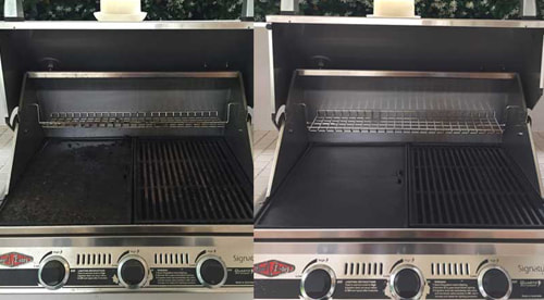 Before and after BBQ Grill Cleaning - 6