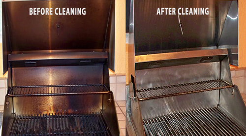 Before and after BBQ Grill Cleaning - 8