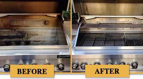 Before and after BBQ Grill Cleaning - 9