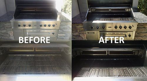 Before and after BBQ Grill Cleaning -3