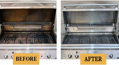 Before and after BBQ Grill Cleaning - 7